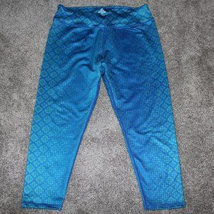 Prana Blue Green Yoga Exercise Leggings Capri Pant